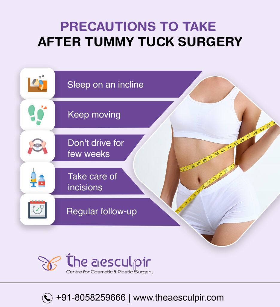 Precautions after tummy tuck surgery